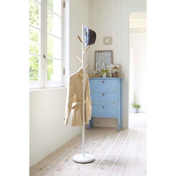 porte manteau blanc yamazaki. Black Bedroom Furniture Sets. Home Design Ideas