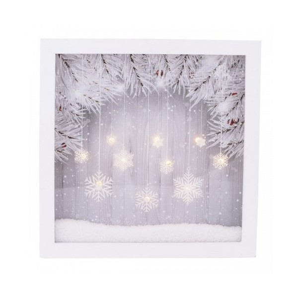 d coration murale de no l winter feeling led bois verre. Black Bedroom Furniture Sets. Home Design Ideas
