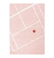 Tapis Tennis court rose