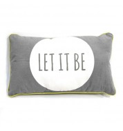 "Coussin Reversible ""Let it be"" gris"