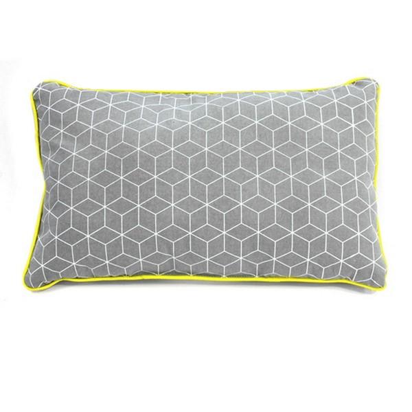 coussin rectangle jaune et gris coussin et plaid. Black Bedroom Furniture Sets. Home Design Ideas