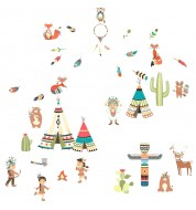 Sticker enfant Indians