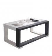 Table basse Relevable blanc et gris
