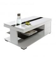 Table basse Relevable blanche et noir