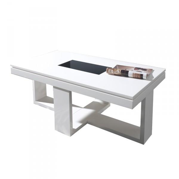 table basse relevable design blanche placage ch ne d co. Black Bedroom Furniture Sets. Home Design Ideas