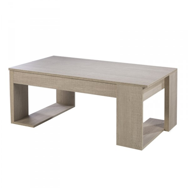 table basse relevable en bois m lamin table basse pour. Black Bedroom Furniture Sets. Home Design Ideas