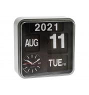 Horloge murale design Mini Flip Argent