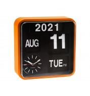 Horloge murale design Mini Flip Orange