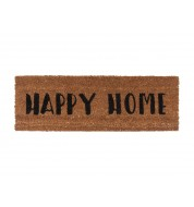 Tapis de porte HAPPY HOME noir