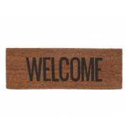 Tapis de porte WELCOME noir