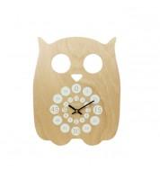 Horloge pédagogique Hibou blanche