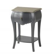 """Table de chevet """"connectée"""" Murano gris"""