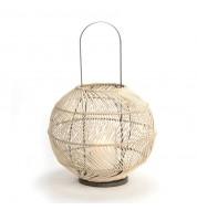 Lanterne Boule Rotin naturel