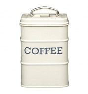 Boite café acier crème KitchenCraft