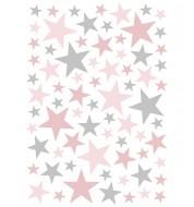 Stickers Étoiles - Rose & Gris