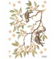 Stickers - Branche et moineaux