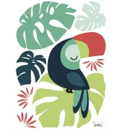 Stickers - Monstera & Toucan