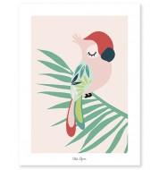 Affiche - Tropica perroquet rose