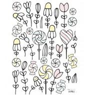 Stickers - Fleurs et bonbons