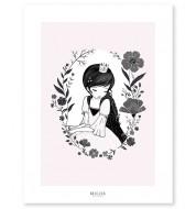 Affiche - Princesse et fleurs