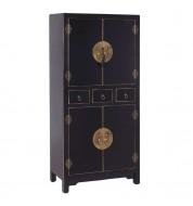 Armoire 4 portes - Chinoise - Noir