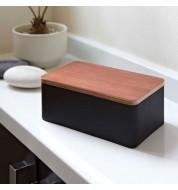 Petite boite à mouchoirs noire rectangulaire Yamazaki