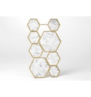 Miroir hexagones or