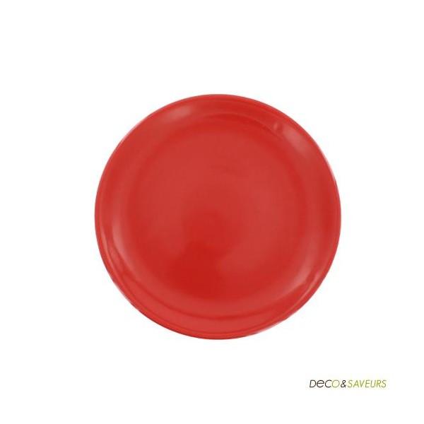 assiettes dessert rouges faience art de la table deco. Black Bedroom Furniture Sets. Home Design Ideas