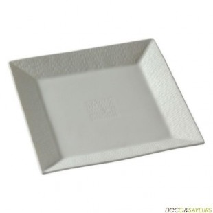 Assiette repas carrée porcelaine Royal Limoges (x1)