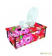 Boîte à mouchoirs imprimée Werkhaus fleur