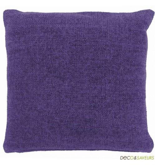 Coussin deco violet 45x45cm paars deco et - Housse de coussin violet ...