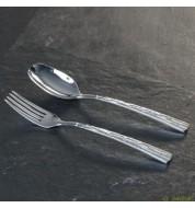 Couverts de service Skin Sambonet (fourchette + cuillère)