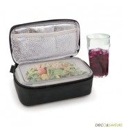 Lunch box isotherme IRIS noire (sac + boite)