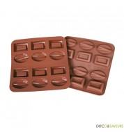 Moule chocolat en silicone (ovales et rectangles)
