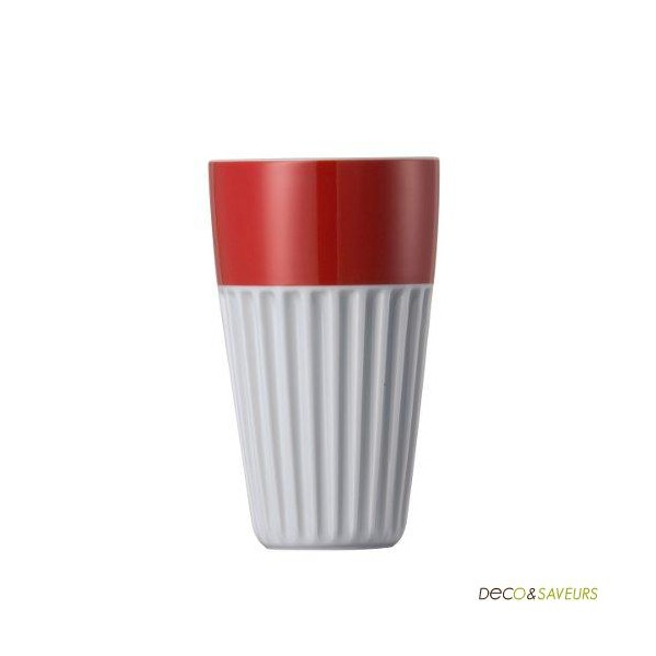 mug sans anse en porcelaine thomas rouge deco et. Black Bedroom Furniture Sets. Home Design Ideas