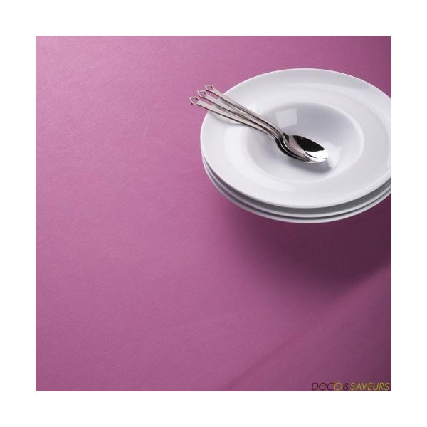 Nappe carr e coton fushia 260x260 cm grande nappe deco for Nappe pour grande table
