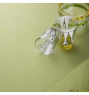 Nappe carrée coton vert (260x260cm) grande nappe