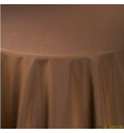 Nappe carrée taffetas chocolat (240x240 cm) grande nappe