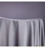 Nappe carrée taffetas gris métal (240x240 cm) grande nappe