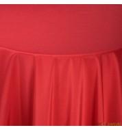 Nappe carrée taffetas rouge (240x240 cm) grande nappe