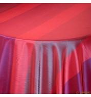 Nappe carrée taffetas rouge et violet (240x240 cm) grande nappe
