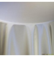 Nappe rectangulaire taffetas gris (180x240cm) grande nappe