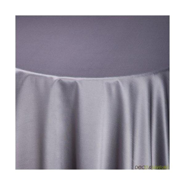 nappe rectangulaire taffetas gris m tal 180x240cm deco et saveurs. Black Bedroom Furniture Sets. Home Design Ideas