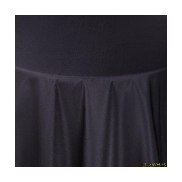 Nappe rectangulaire taffetas noir 180x240cm deco et for Nappe de table rectangulaire grande taille