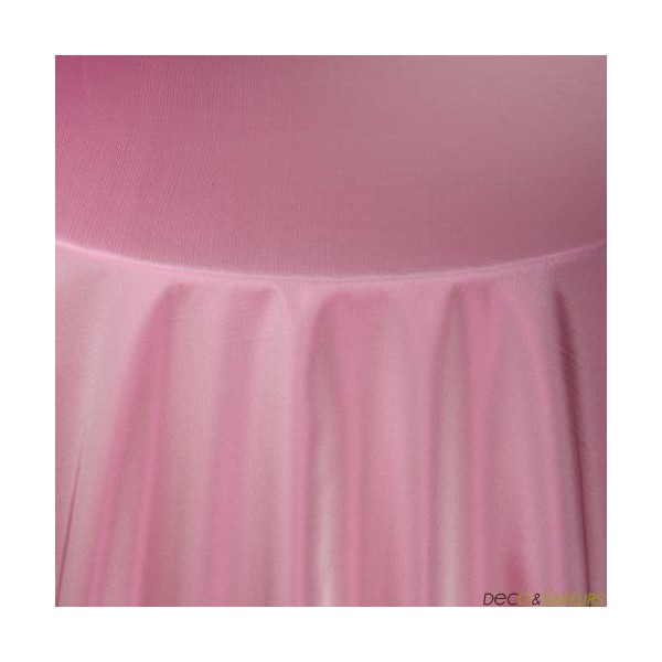 Nappe rectangulaire taffetas rose 180x240cm deco et for Nappe de table rectangulaire grande taille