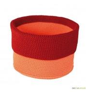 Panier de rangement crocheté TRAVEL orange (22 cm) - panier déco