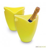 Seau à champagne Pulltex jaune