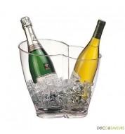 Seau à champagne transparent