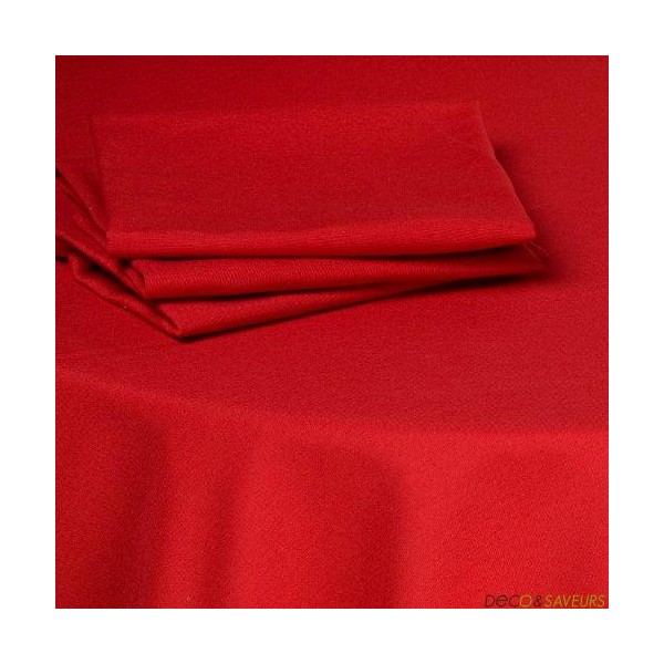 Serviette de table tissu coton (50x50cm) rouge  Decoet