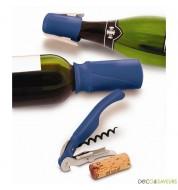 Set vin et champagne Pulltex - 3 pièces (bleu)